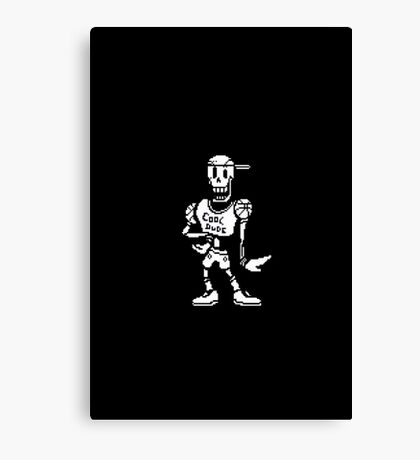 "Undertale: Papyrus ""Cool dude"" Canvas Print"