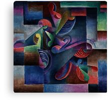 An Explosion of Color - Curving Machine by Molzahn Canvas Print