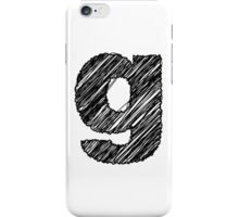 Sketchy Letter Series - Letter G (lowercase) iPhone Case/Skin