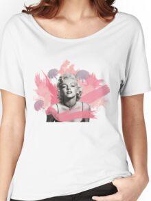 Marilyn Monroe- Celebrity watercolour  Women's Relaxed Fit T-Shirt