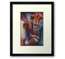 Another Station - Abstract by Johannes Molzahn Framed Print