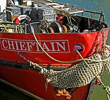 Bow Of The Chieftain, Whitby Harbour by Rod Johnson
