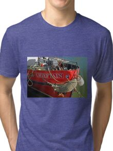 Bow Of The Chieftain, Whitby Harbour Tri-blend T-Shirt
