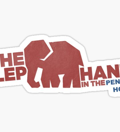 Finding Carter - elephant in the penguin house Sticker
