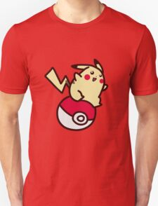 Electric Mouse Riding a Pokeball Unisex T-Shirt