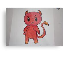 Chibi Devil Handmade Metal Print