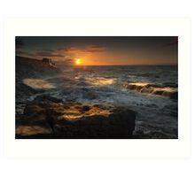 Porthcawl sunrise South Wales Art Print