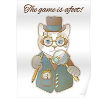 Steampunk Cat Detective Poster
