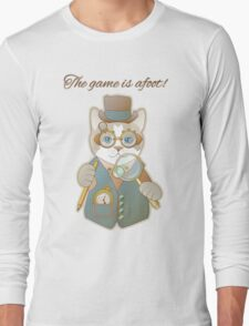 Steampunk Cat Detective Long Sleeve T-Shirt