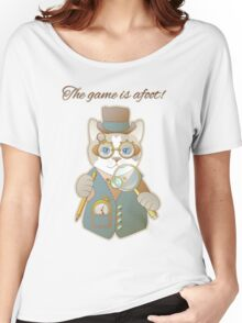 Steampunk Cat Detective Women's Relaxed Fit T-Shirt