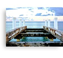 Sunset Pier at Grace Bay Canvas Print