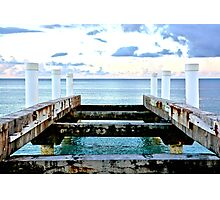 Sunset Pier at Grace Bay Photographic Print
