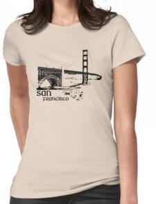 san francisco, golden gate bridge Womens Fitted T-Shirt