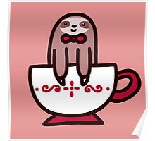 Teacup Sloth Poster