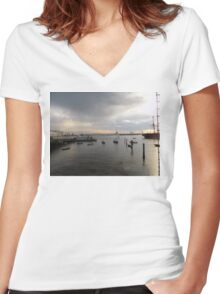 Seafront Women's Fitted V-Neck T-Shirt