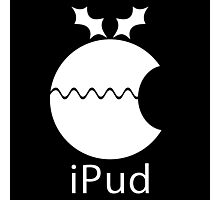 iPud Christmas Pudding Photographic Print