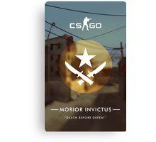 CSGO Poster | Morior Invictus Canvas Print
