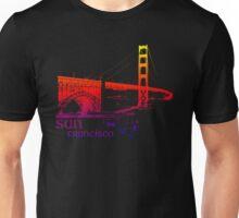 golden gate bridge colored Unisex T-Shirt