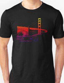 golden gate bridge colored T-Shirt