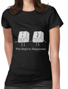 The keys to happiness Womens Fitted T-Shirt