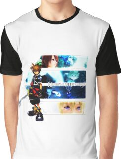 Kingdom Hearts multi-character Graphic T-Shirt