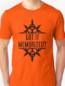 Got It Memorized? - Black Unisex T-Shirt