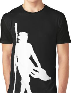Rey Silhoutte (White) Graphic T-Shirt