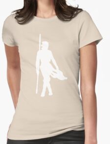 Rey Silhoutte (White) Womens Fitted T-Shirt