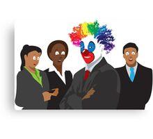 Peculiar People Day - Clown Canvas Print