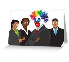 Peculiar People Day - Clown Greeting Card