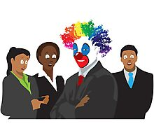 Peculiar People Day - Clown Photographic Print