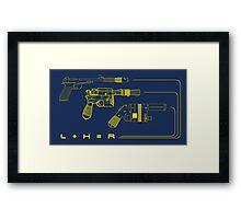 Blaster Math Framed Print