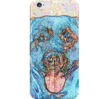 Abstract Blue Orange Labrador Retriever iPhone Case/Skin