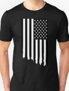 Black and white american flag - dripping Unisex T-Shirt
