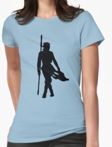Rey Silhoutte (Black) Womens T-Shirt