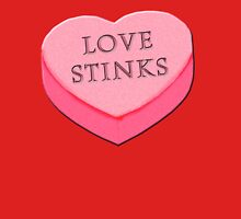 LOVE STINKS Fun Anti Valentine Women's Fitted V-Neck T-Shirt