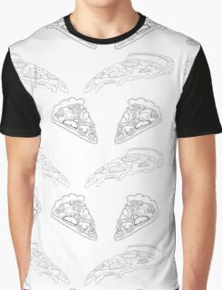 Pizza Collage (B&W) Graphic T-Shirt