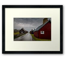 Small house's and a small road Framed Print