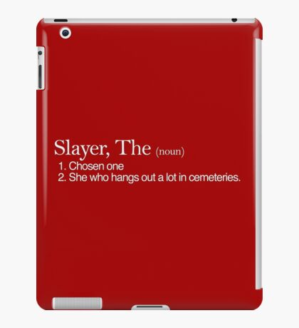 Slayer, The Definition (white type) iPad Case/Skin