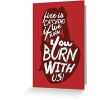 Hunger Games Quote Greeting Card