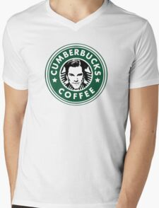 Cumberbucks Coffee Mens V-Neck T-Shirt