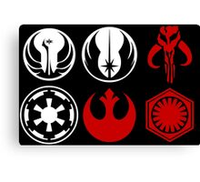 Icons of the Galaxy Canvas Print