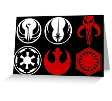 Icons of the Galaxy Greeting Card