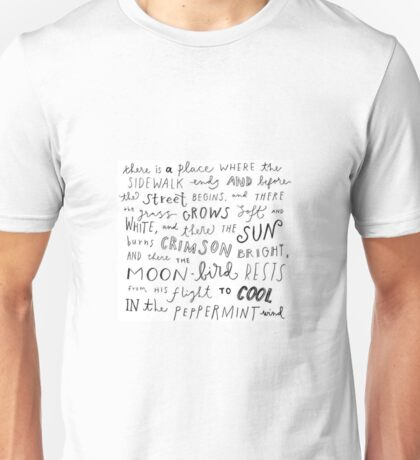 Where the Sidewalk Ends quote Shel Silverstein Unisex T-Shirt