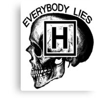 Dr House - Everybody Lies (skull) Canvas Print