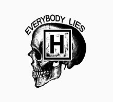 Dr House - Everybody Lies (skull) Women's Fitted V-Neck T-Shirt