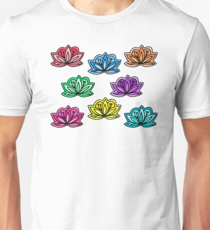 happy little lotus flowers Unisex T-Shirt