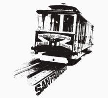 San Francisco, Cable Car One Piece - Short Sleeve