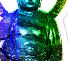 Buddha (Digital Galaxy Rainbow Colors) Sticker