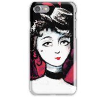 Burlesque Dancer Painting iPhone Case/Skin